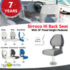 Oceansouth USA Deluxe Hi Back Boat Seat with Fixed Pedestal