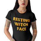 Resting Witch Face Halloween T Shirt Funny Black T-Shirt Mens Womens Top H17