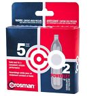 CO2 Cartridge 12g Crosman For Gas Powered Gun Pellet Airsoft USA Made Powerlet