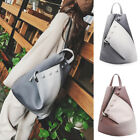 Women's Faux Leather Teardrop Backpack Rucksack Daypack Travel Bag Cute Purse