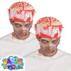 Adult Bandage Brain Hat Bloody Halloween Zombie Horror Fancy Dress Accessory