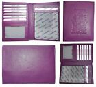 New Canadian Leather passport cover wallet Passport case card ATM ID Holder BN