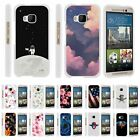 For HTC One M9 Hard Fitted 2 Piece Snap On Case White