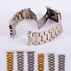 Stainless Steel Strap Band Clasp Metal Watch Bracelet 18/20/22/24mm Replacement image