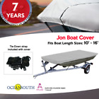 HEAVY DUTY 100% SOLUTION DYED POLYESTER JON BOAT COVER LENGTH
