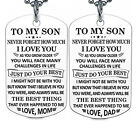 Am_ Fashion To My Son Letter Dog Tag Pendant Necklace Dad Mom Jewelry Gift Utili