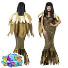 Adult Dark Cleopatra Costume Halloween Egyptian Horror Fancy Dress Ladies Outfit