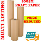 STRONG BROWN KRAFT WRAPPING PARCEL PAPER PACKAGING WRAPPING 90GSM FREE P&amp;P <br/> MULTI QUANTITY - CHOOSE WIDTH / LENGTH. CHEAPEST PRICES