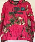 Ladies Mossy Oak Pullover Hoodie, Hot Pink Camo; Choose Size