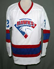 MONCTON HAWKS HOCKEY JERSEY DOUG SMITH, GOON MOVIE AUTHOR SEWN NEW ANY SIZE