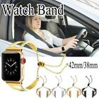 Lady Stainless Steel Wrist Band Bangle Cuff Bracelet For Apple Watch Series 1 3