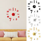 Modern DIY Analog 3D Mirror Surface Large Wall Sticker Clock Home Office Decor
