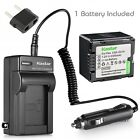 Kastar Battery Travel Charger for Panasonic CGR-DU14 CGA-DU14 CGA-DU06 CGA-DU06