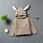 UK Toddler Baby Girl Long Sleeve Sweater Tops Infant Clothes Rabbit Hat Outfits