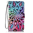 Spread Flower Pu Leather Wallet Case Flip Cover Kickstand Card Slot For Phones