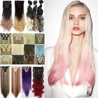 Long as human Clip in on Real Thick Hair Extensions Extensio