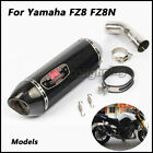 Slip on Middle Pipe Connecting Pipe Exhaust Muffler Pipe For YAMAHA FZ8S FZ8N