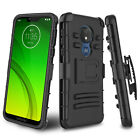For Motorola Moto G6 Play/G7/G7 Power Case Hybrid Stand Cover + Screen Protector