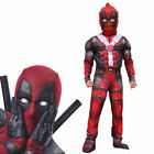Deluxe Boys Marvel Deadpool Muscle Kids Halloween Party Costume