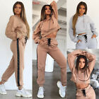 2Pcs Women Tracksuit Hoodies Sweatshirt Pants Sets Sport Wea