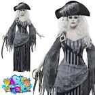 Pirate Ghost Ship Costume Adult Mens Womens Zombie Couples Halloween Fancy Dress