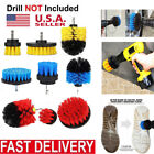 3Pcs Electric Drill Brush Cleaning Brush Carpet Glass Floor Car Grout Scrubber