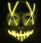 US Halloween Mask Costume LED Light Up Purge Election Year Festival Cosplay