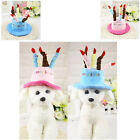 Cap For Cute Pet Dog Cat New Birthday Party Costume Hat With Cake Candles Design