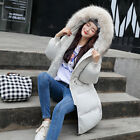 Women's Winter Jacket Long Down Cotton Ladies Parka Hooded Outwear Quilted Coat