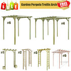 Impregnated Pinewood Garden Pergola Arbours / Rose Trellis Arch with Planters UK