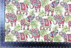 New World Indian Elephants Tapestry Fabric Material *3 Sizes*
