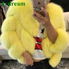 Fashion Women Fur Jacket Lady Natural Warm Fur 100% New Short Coat Outwear