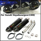 Motorcycle Connect Mid Pipe+Exhaust Muffler Pipe*2 For Suzuki Hayabusa GSX1300