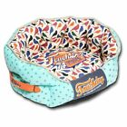 Pet Life Touchdog Chirpin-Avery Round Premium Designer Dog Bed - Light Blue
