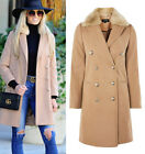 TOPSHOP New Faux Fur Detachable Collar Winter Coat Jacket in Camel Sizes 6 to 16