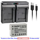 Kastar Battery Dual USB Charger for Canon NB-10L CB-2LC & Canon PowerShot G16