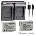 Kastar Battery Dual Charger for Canon NB-10L CB-2LC & Canon PowerShot SX50 HS