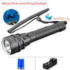 Внешний вид - Professional Scuba Diving Flashlight Underwater Light Torch 18650 LED Flashlight