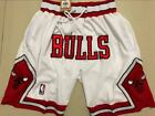 Men's NBA Basketball Game Shorts Chicago Bulls Vintage NWT Stitched White