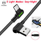 Mcdodo fast Charging LED USB Type-C Nylon Braided Data Sync Charger Cable Cord