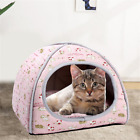 Cat Small Dog Soft Bed Met House Tent Igloo Removable Covered Bed S,M,L
