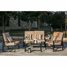 Every Season Steel 4 Piece Loveseat Patio Conversation Set