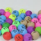 50pc Colourful Ping Pong Balls Beer Pong Number Table Tennis Ball Gaming Lottery