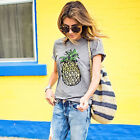US Summer Women Casual Short Sleeve Loose T-shirts Blouse Print Graphic Tee Tops