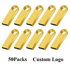 Wholesale Lot 50 1 2 4 8GB Metal Golden SE9 USB Flash Drive Memory Stick Logo