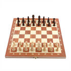 Foldable Wood Chess Wooden Board Hand Crafted Fold Chessboard Game Portable SD