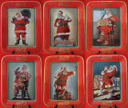 Franklin Mint Set of SIX Coca Cola Santa Limited Fine Porcelain Collector Plates