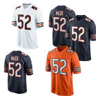 NWT Mens Chicago Bears 52 Khalil Mack Jersey Size M 3XL Orange Whtie Blue