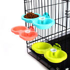 Dog Feeding & Drinking Bowl Plastic Double Using Pet Feeder With Water Dispenser