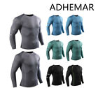 Autumn Winter Men's T-Shirt Compression Base Layer Long Sleeve Sports Fitness UK